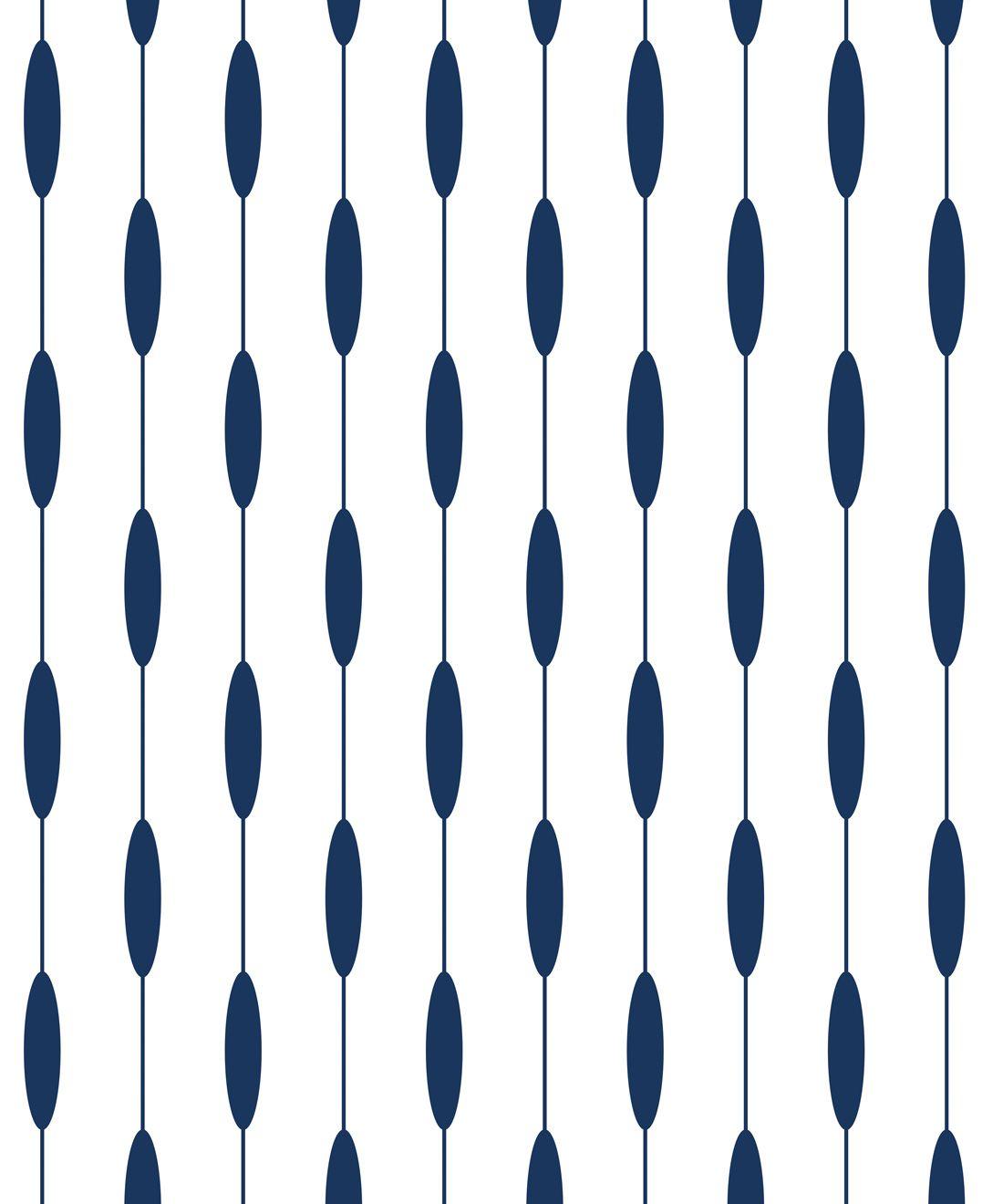 Bowline Wallpaper • Geometric Wallpaper • Striped Wallpaper • Navy Wallpaper •Swatch