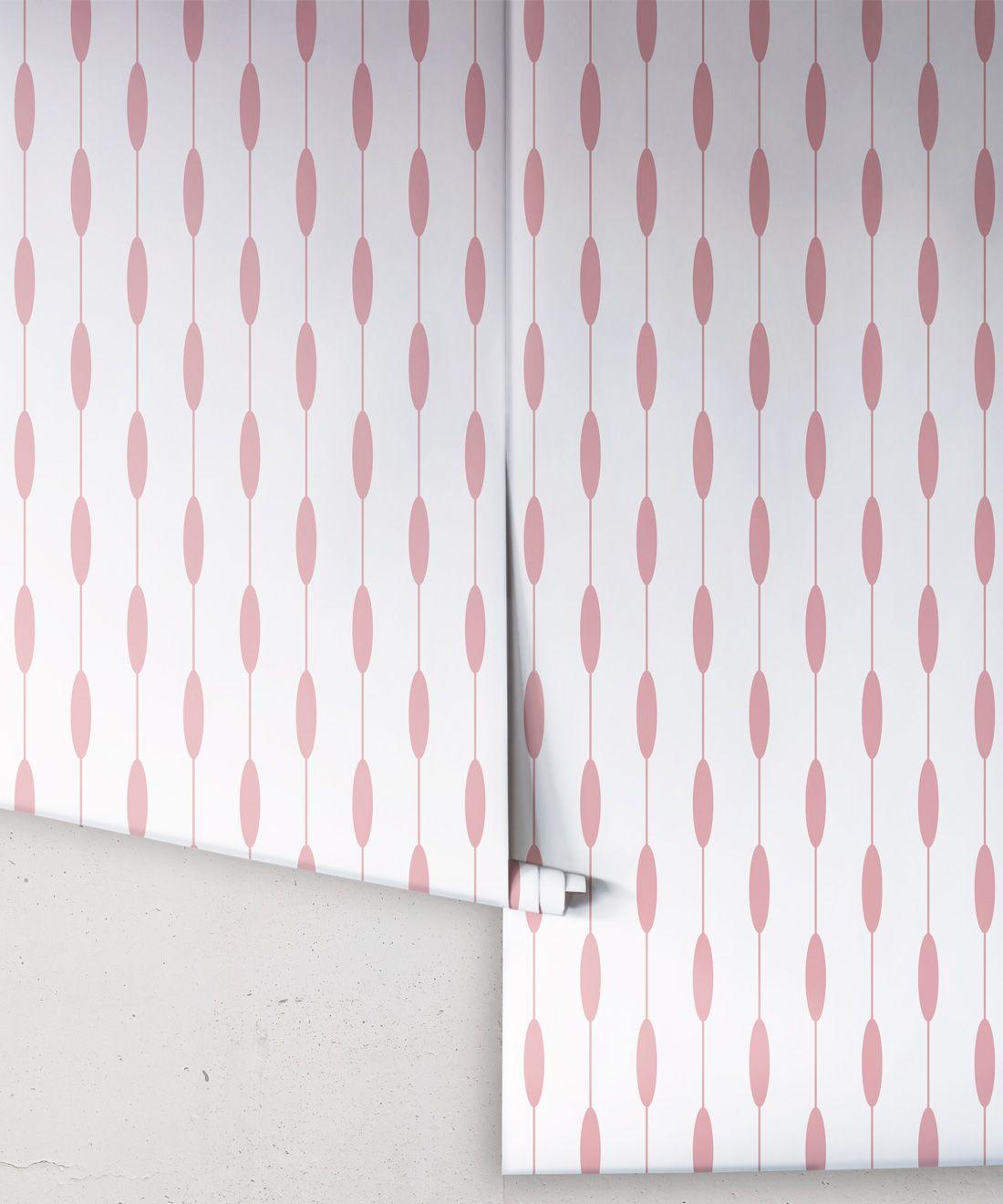 Bowline Wallpaper • Geometric Wallpaper • Striped Wallpaper • Pink Wallpaper •Rolls