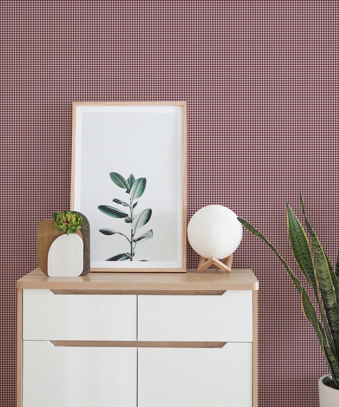 Houndstooth Wallpaper • Dogstooth Wallpaper • Ron Burgundy •Insitu