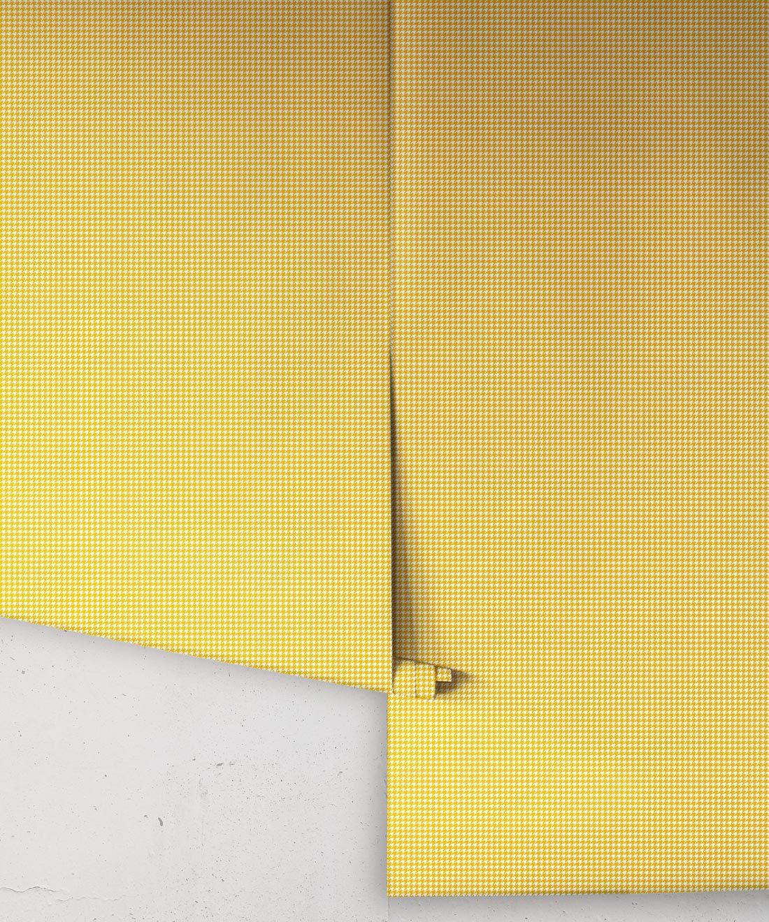 Houndstooth Wallpaper • Dogstooth Wallpaper • Sunshine Yellow Wallpaper •Rolls