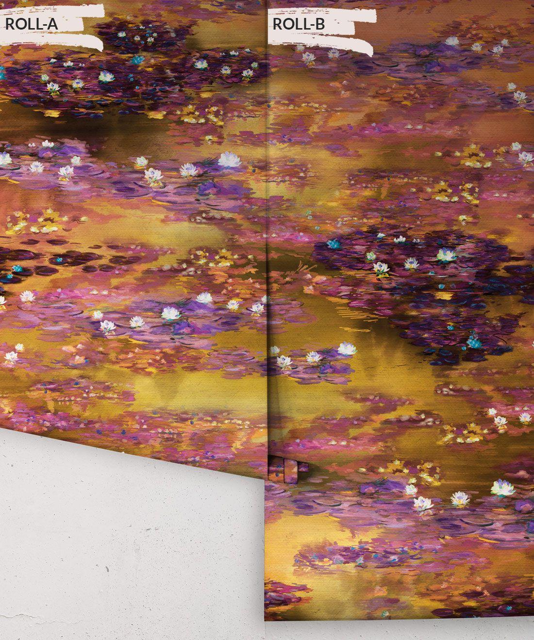 Water Lillies Wallpaper •Abstract Wallpaper • Dreamy Wallpaper • Luminere Wallpaper •Rolls