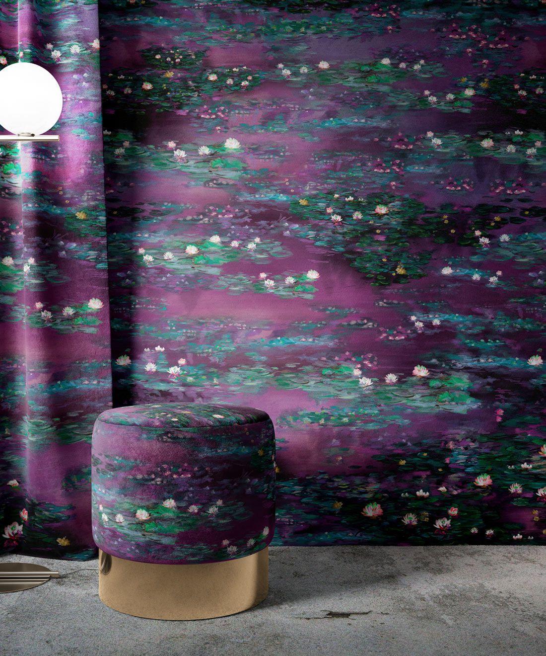 Water Lillies Wallpaper •Abstract Wallpaper • Dreamy Wallpaper • Violeta Wallpaper •Insitu