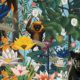 The Jungle Wallpaper • Animal Wallpaper • Botanical Wallpaper • Sky Wallpaper • Swatch