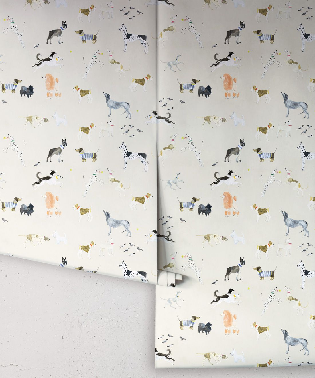 Doggies Wallpaper •Dog Wallpaper •Cream • Rolls