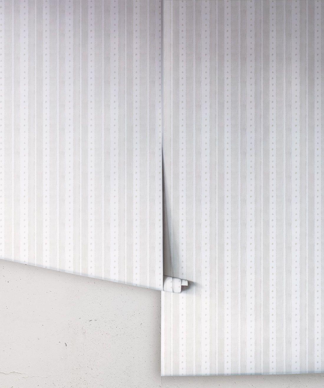 Star Stripe Wallpaper • Beige • Rolls