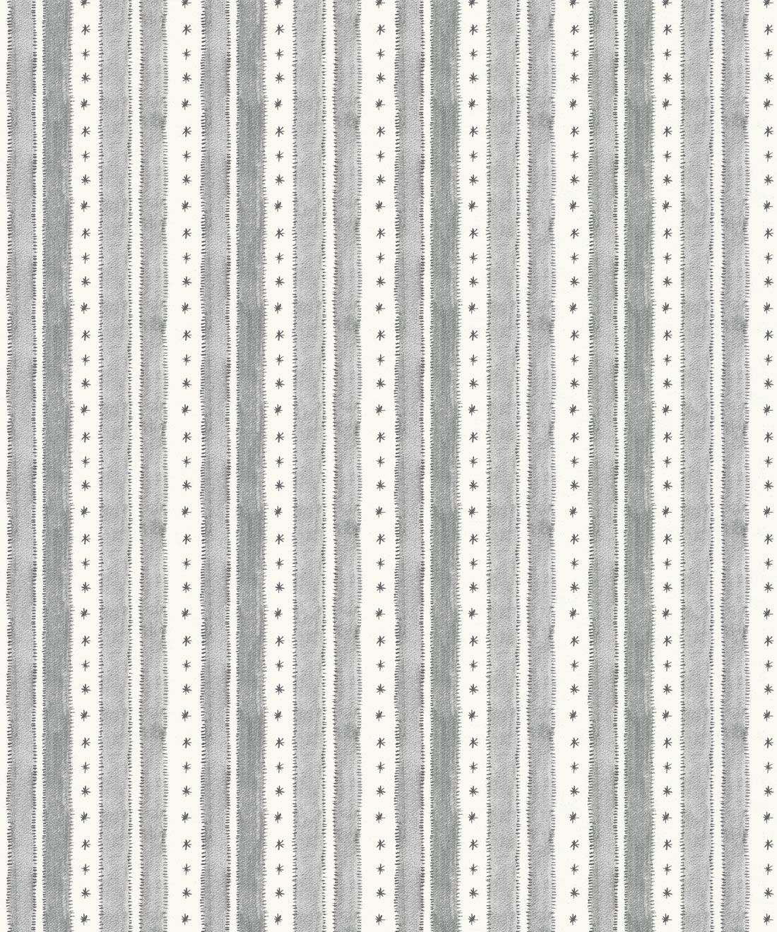 Star Stripe Wallpaper • Charcoal • Swatch