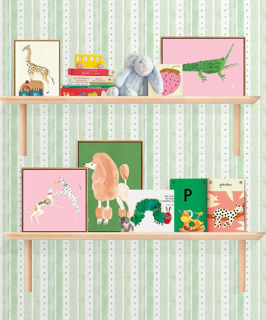 Star Stripe Wallpaper • Green • Insitu