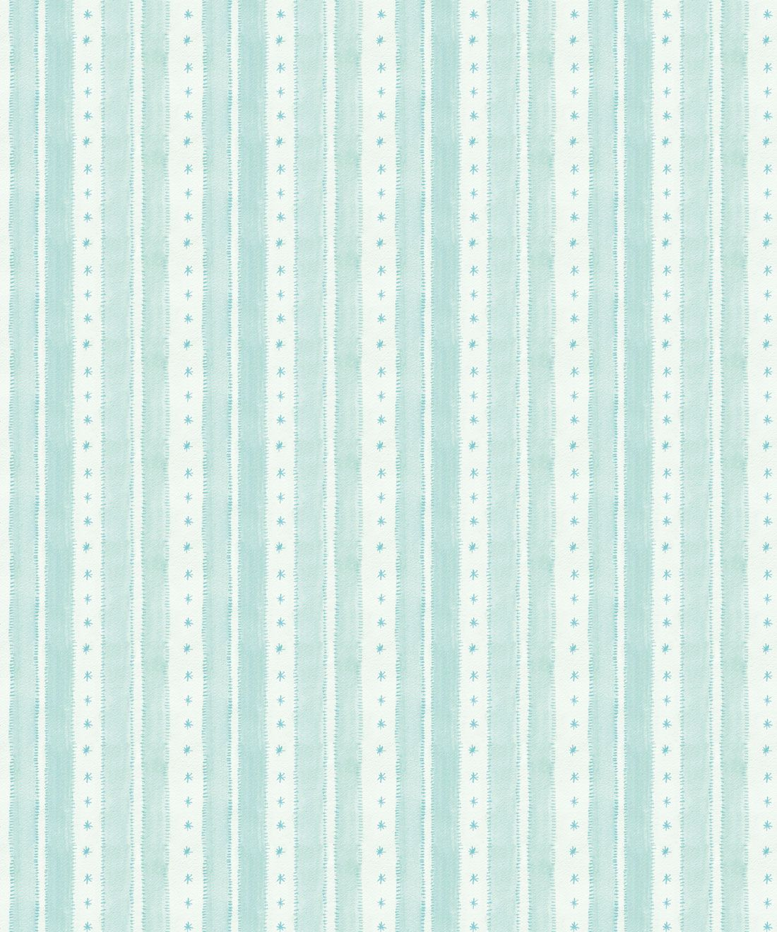 Star Stripe Wallpaper • Turquoise • Swatch