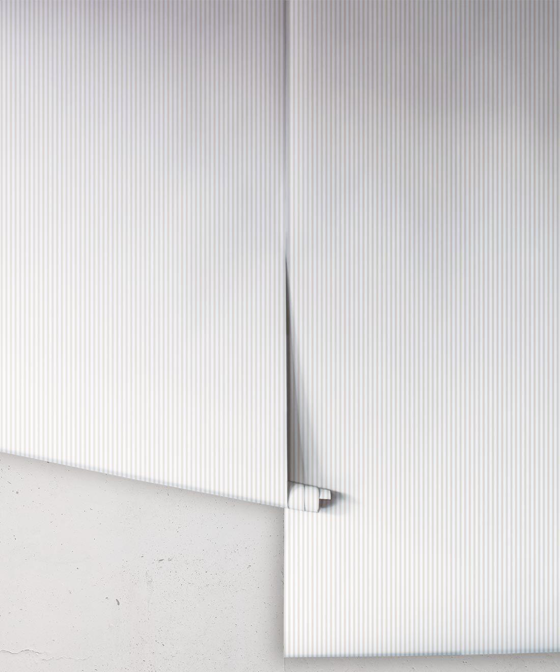 Ticking Stripe Wallpaper • Natural Wallpaper • Rolls