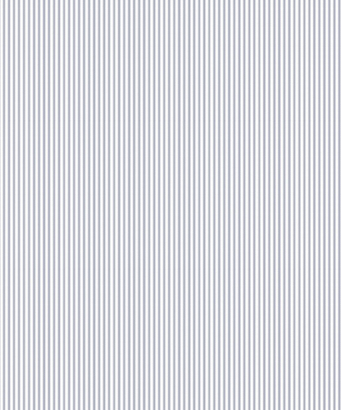 Ticking Stripe Wallpaper • Navy Wallpaper • Swatch