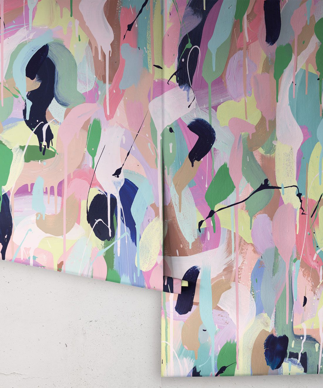 Between Tides Wallpaper •Colourful Painterly Wallpaper • Tiff Manuell • Abstract Expressionist Wallpaper • Rolls