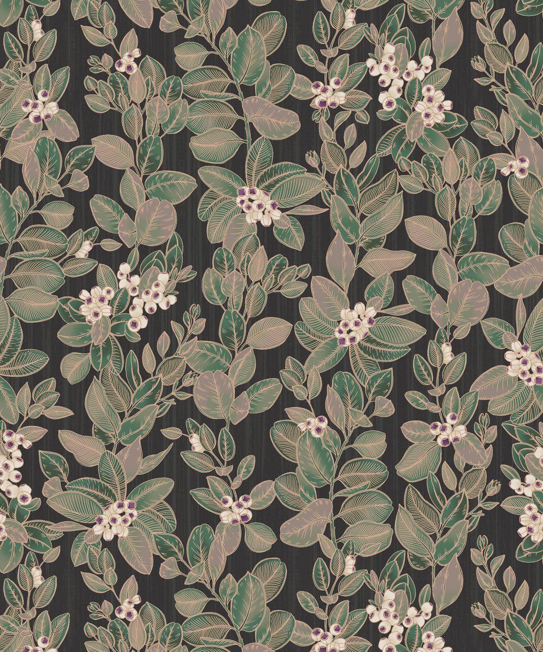 Eucalyptus Wallpaper • Eloise Short • Vintage Floral Wallpaper •Granny Chic Wallpaper • Grandmillennial Style Wallpaper •Pebble •Swatch