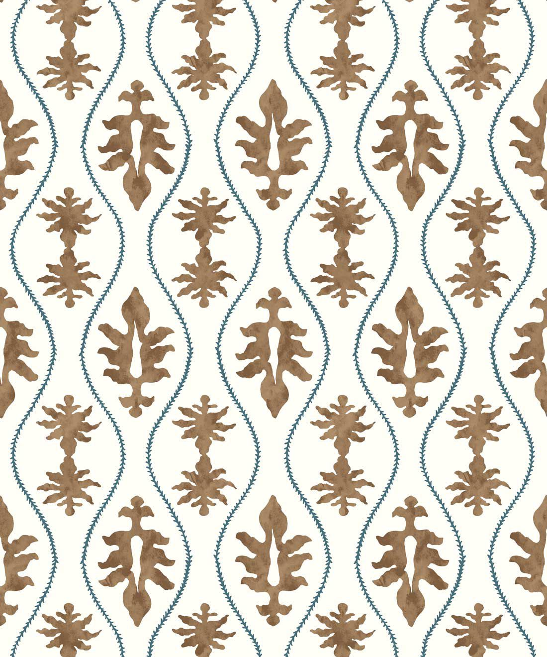 Great Jones Wallpaper • Dianne Bergeron • Chestnut •Swatch