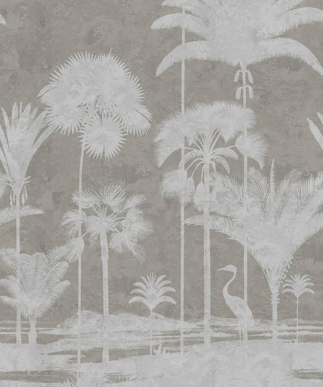 Shadow Palms Wallpaper Mural •Bethany Linz • Palm Tree Mural • Beige • Swatch