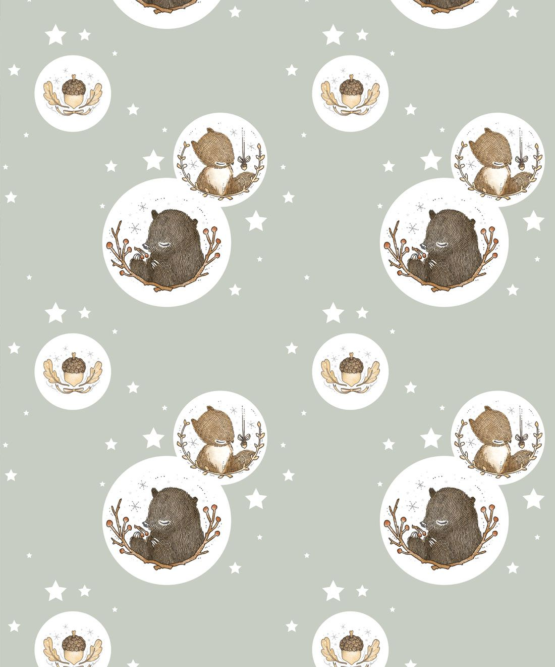 Bear & Squirrel Wallpaper