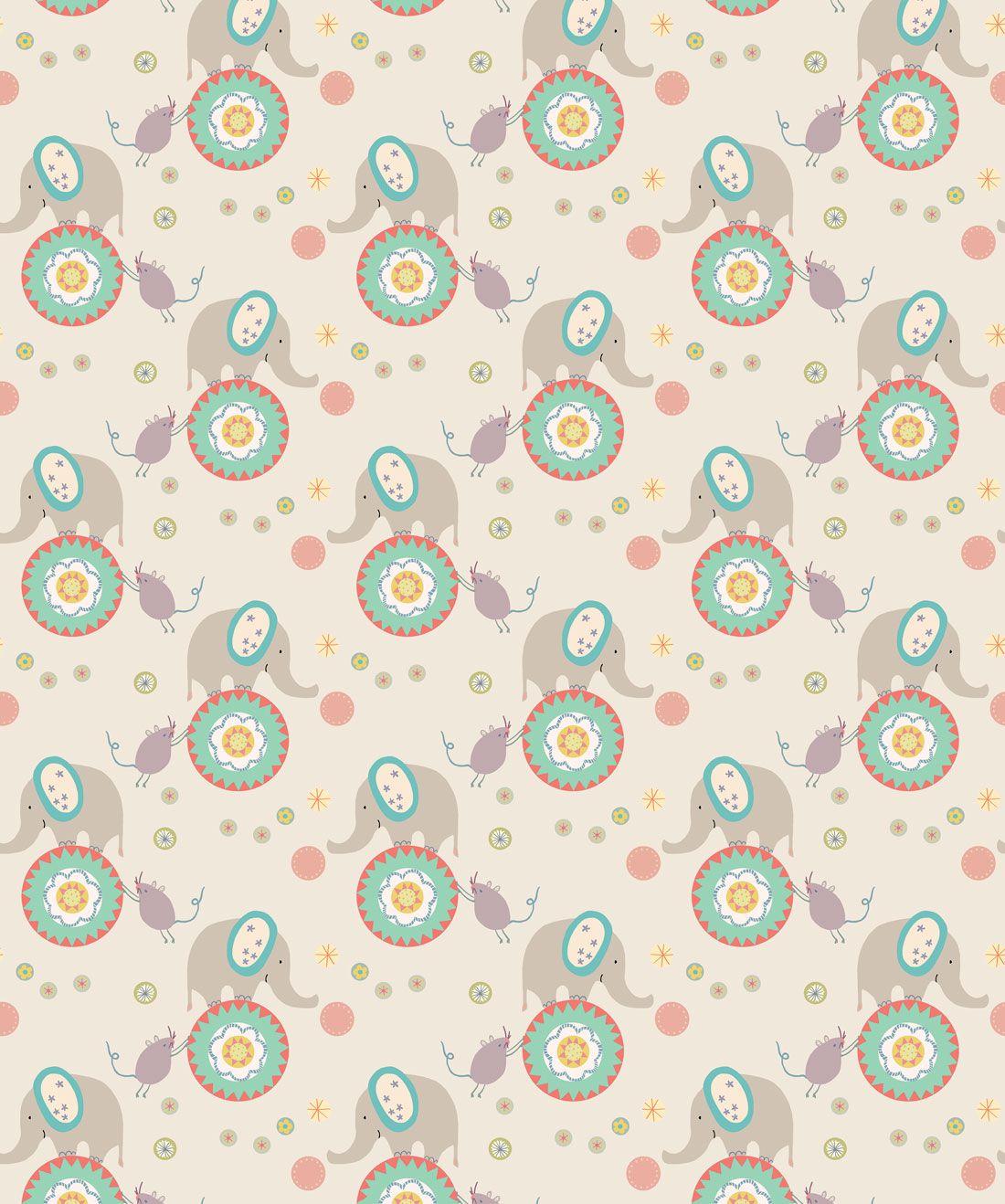 Elephants & Mice Wallpaper