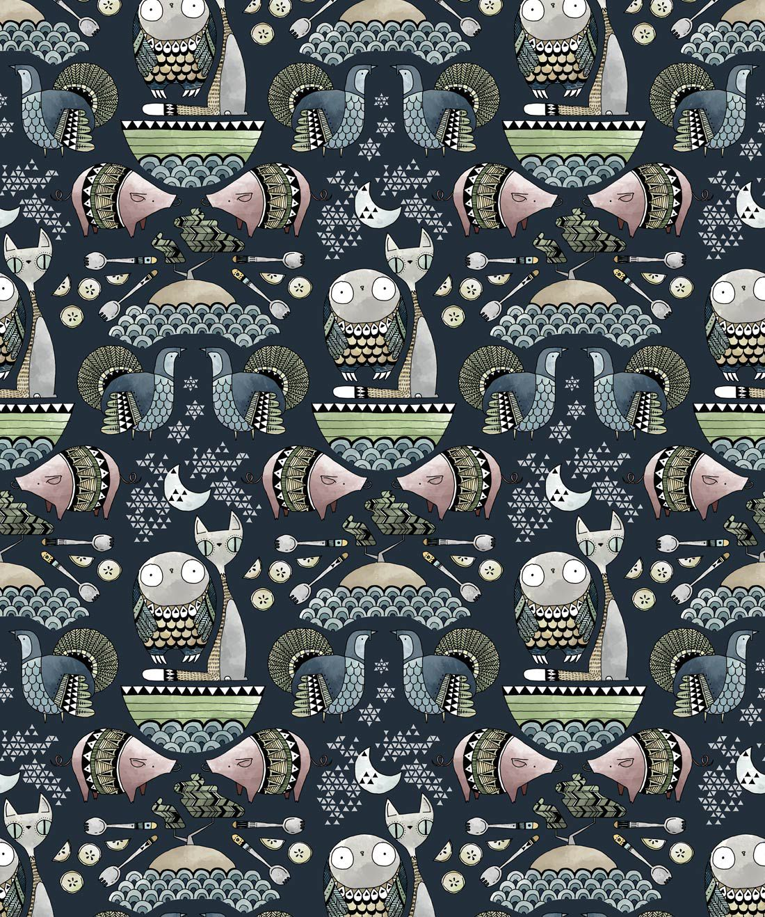 The Owl & The Pussycat Wallpaper