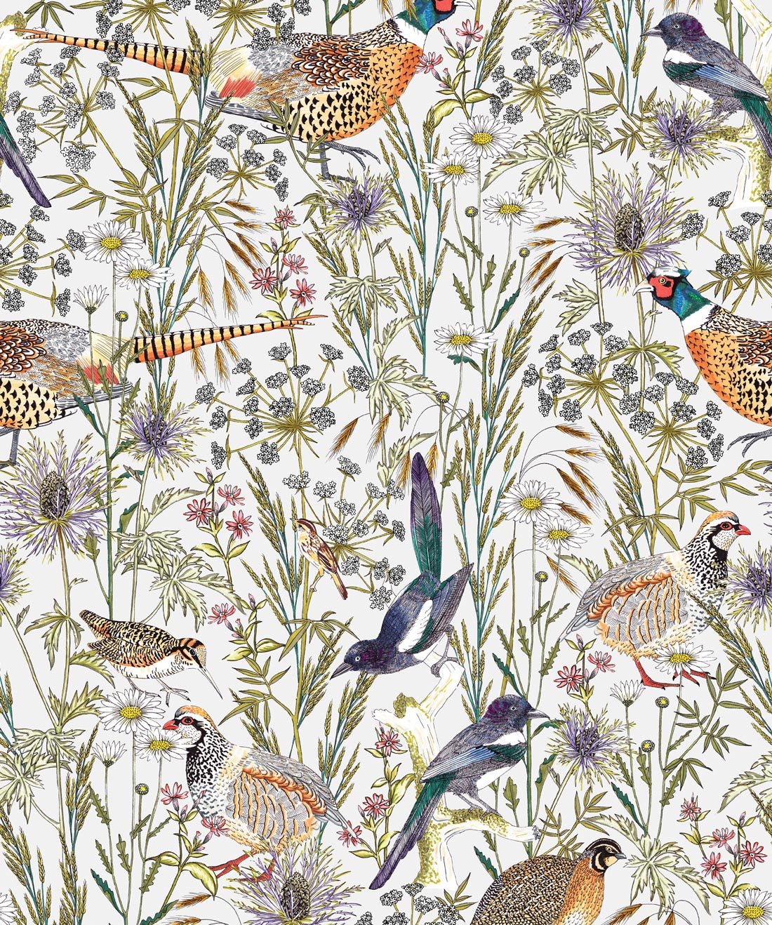Woodland Birds Wallpaper