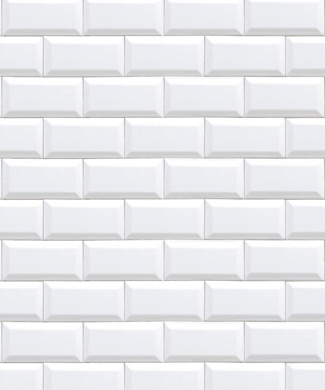 White Subway Tiles Wallpaper