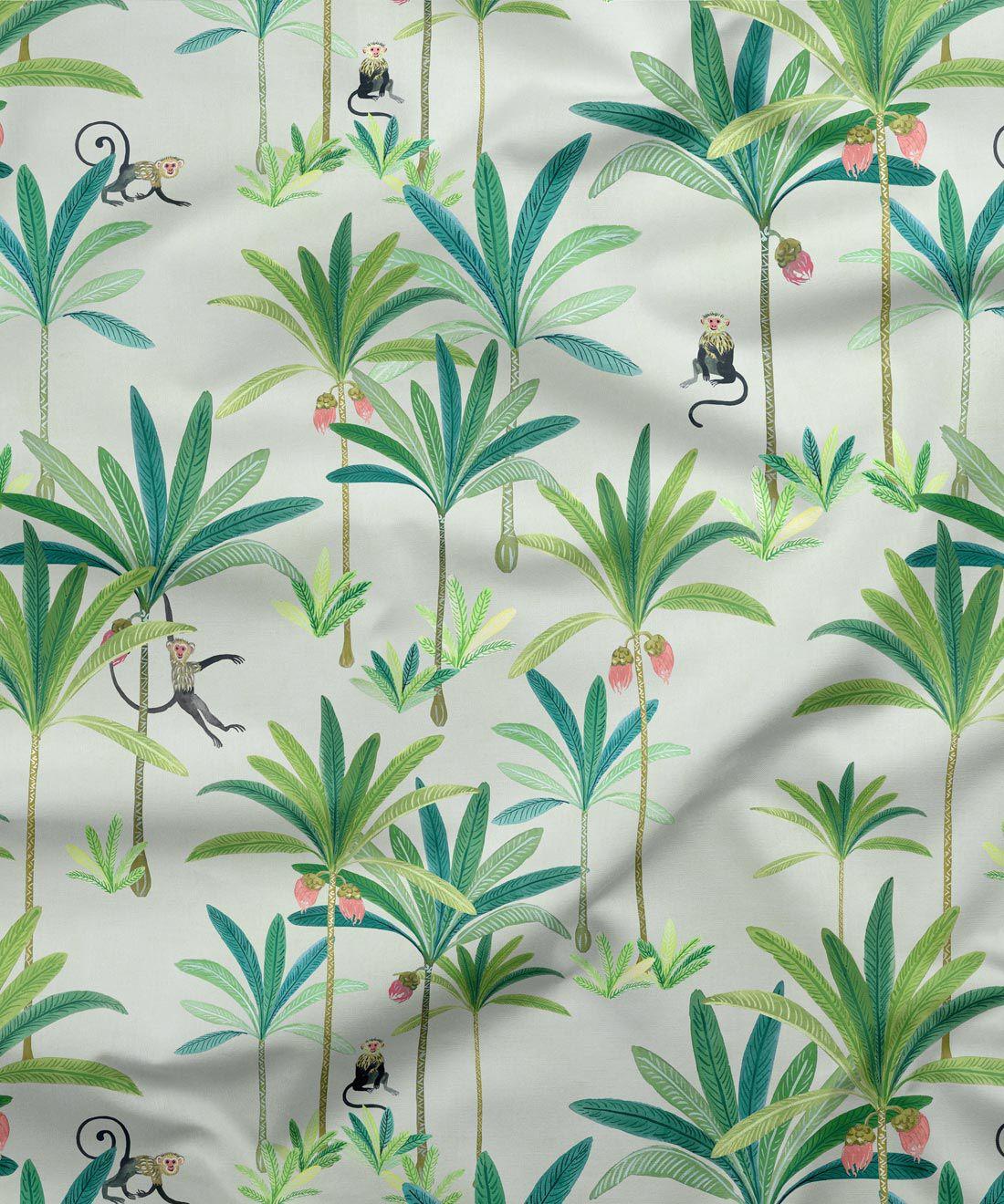 Monkey Palms Fabric
