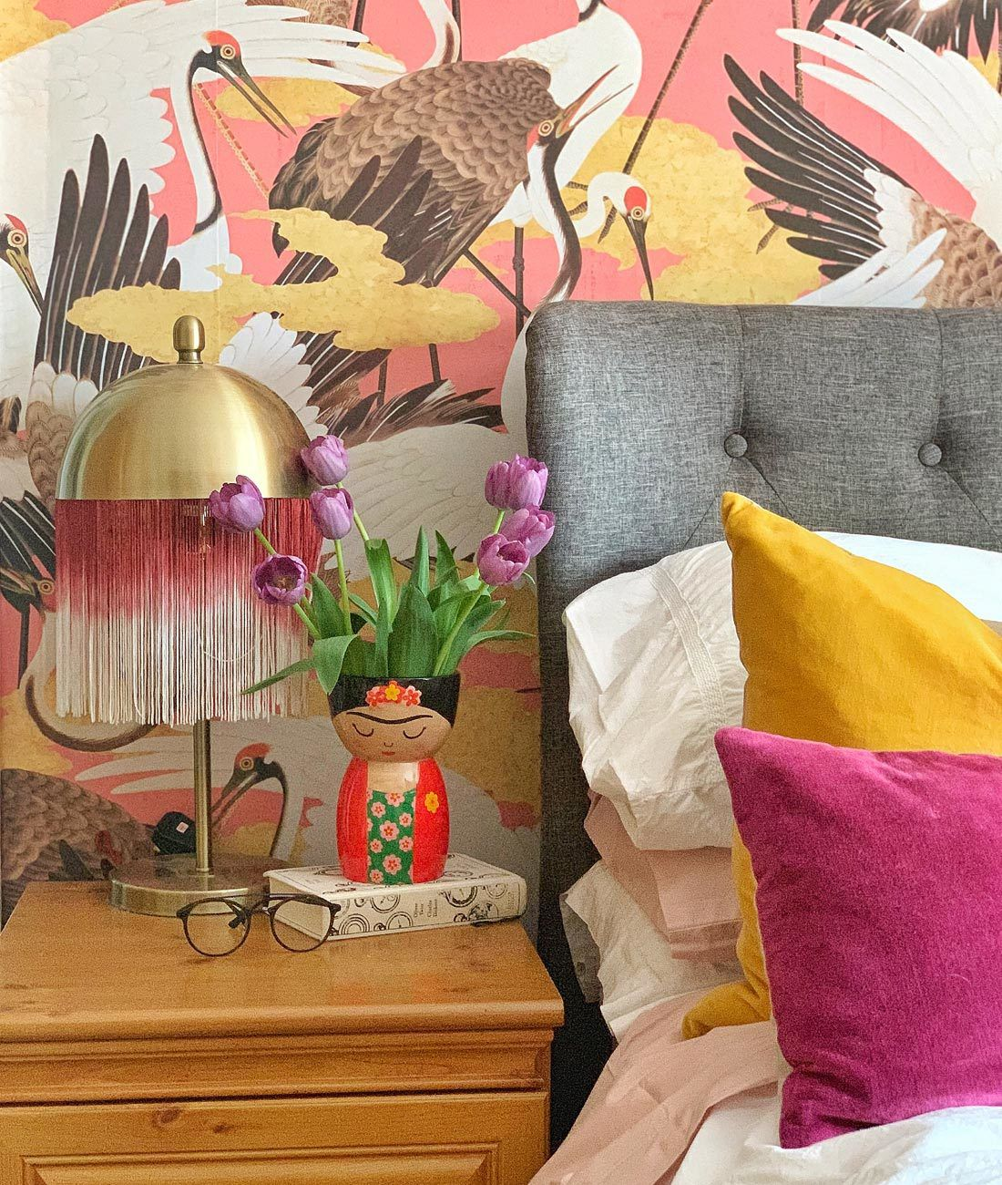 Cranes Wallpaper • Kingdom Home • Milton & King Europe Order A Sample
