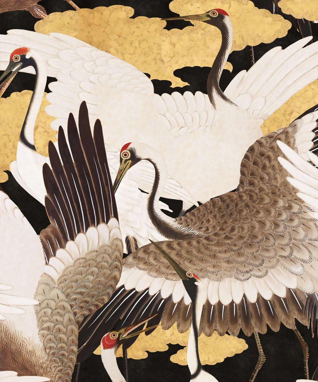 Cranes Wallpaper (Two Rolls)