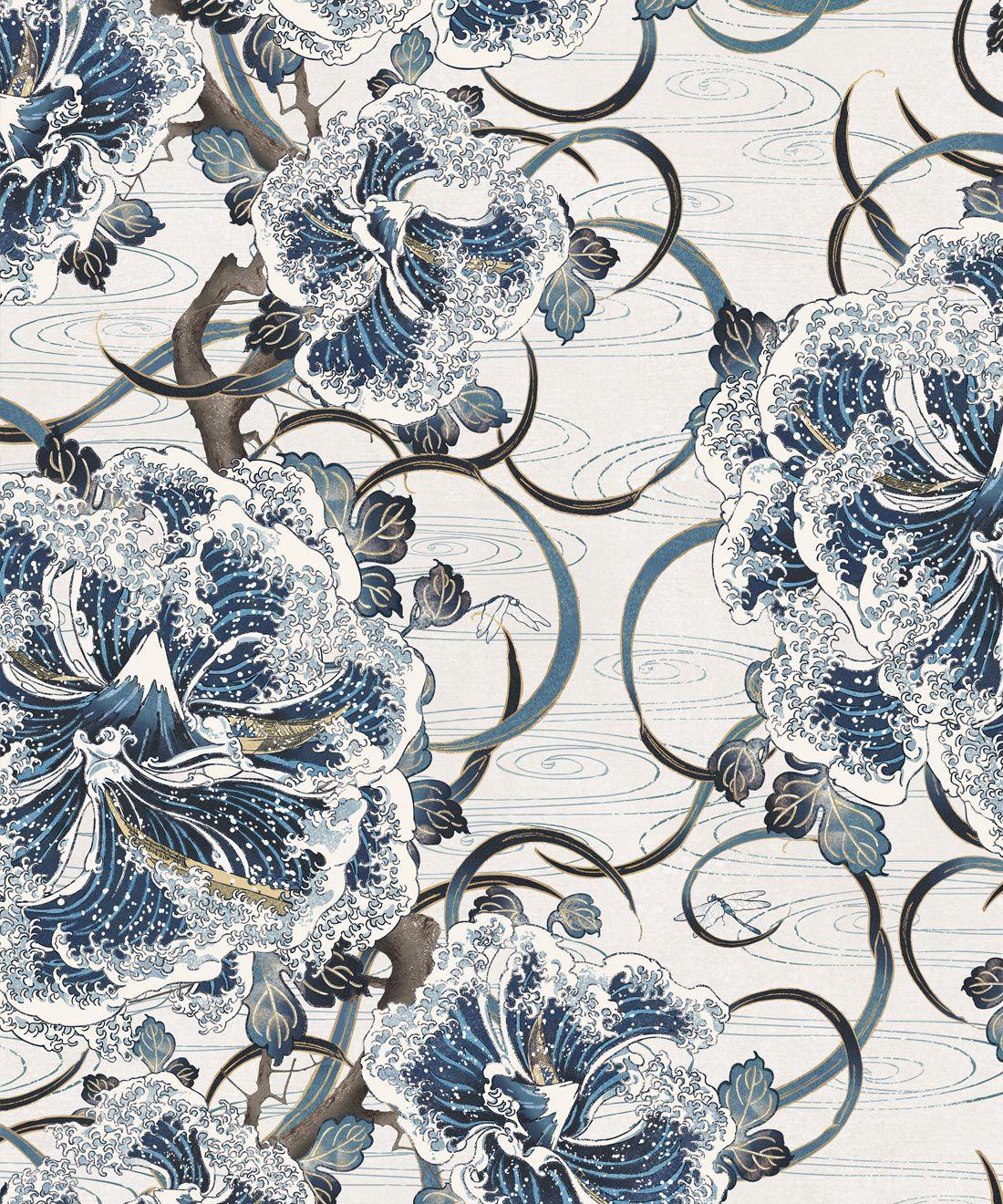 Great Wave Bloom Wallpaper (two rolls)