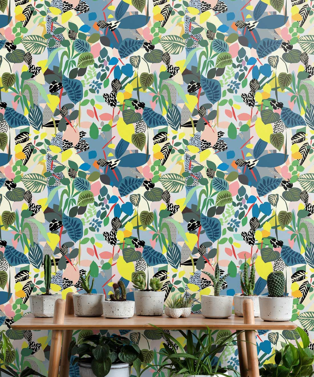 Hockney Wallpaper, Colourful Tropical Wallpaper by Kitty McCall, Milton & King, Europe