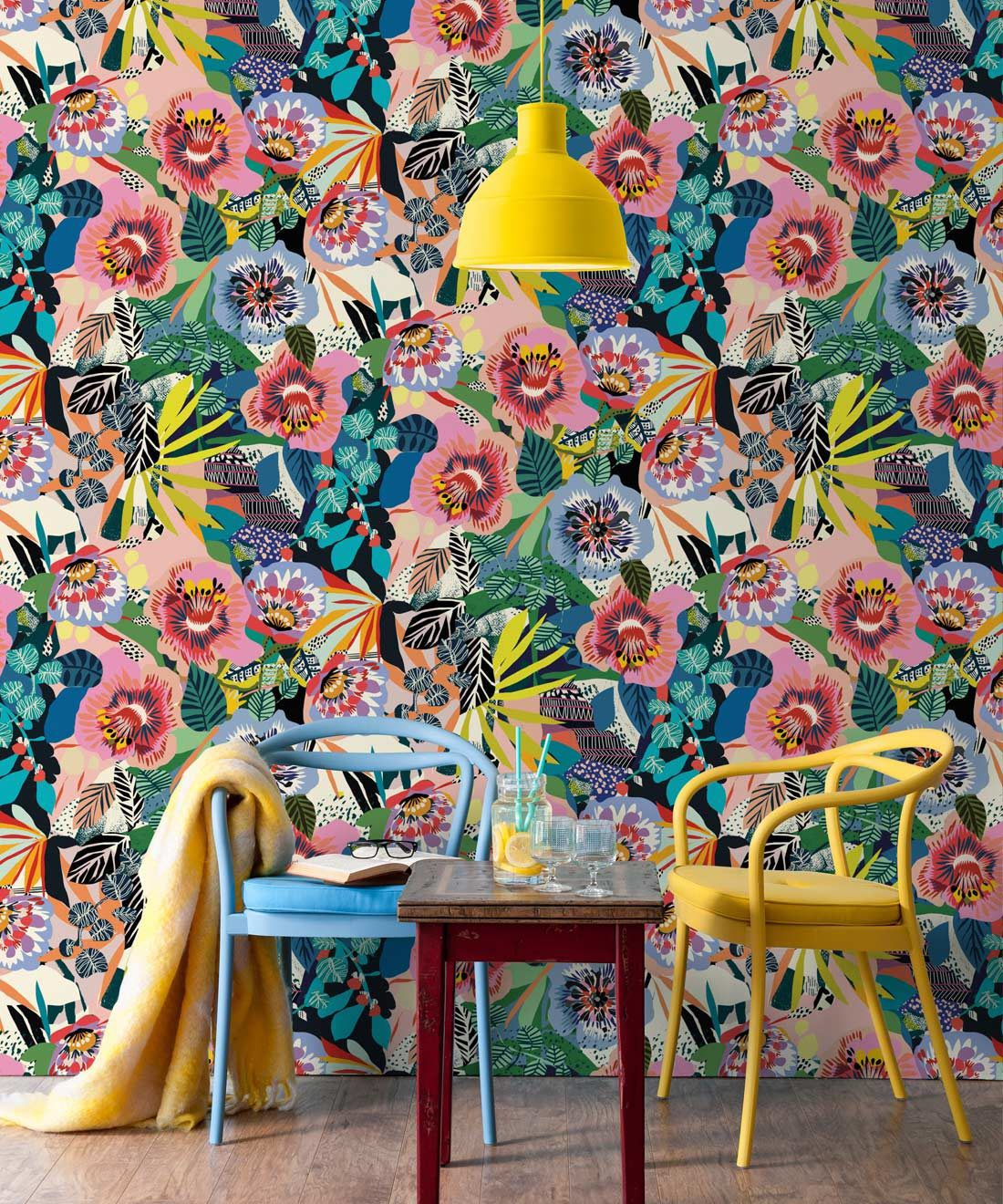 Summer Garden, Colourful Floral Wallpaper by Kitty McCall, Milton & King - Europe