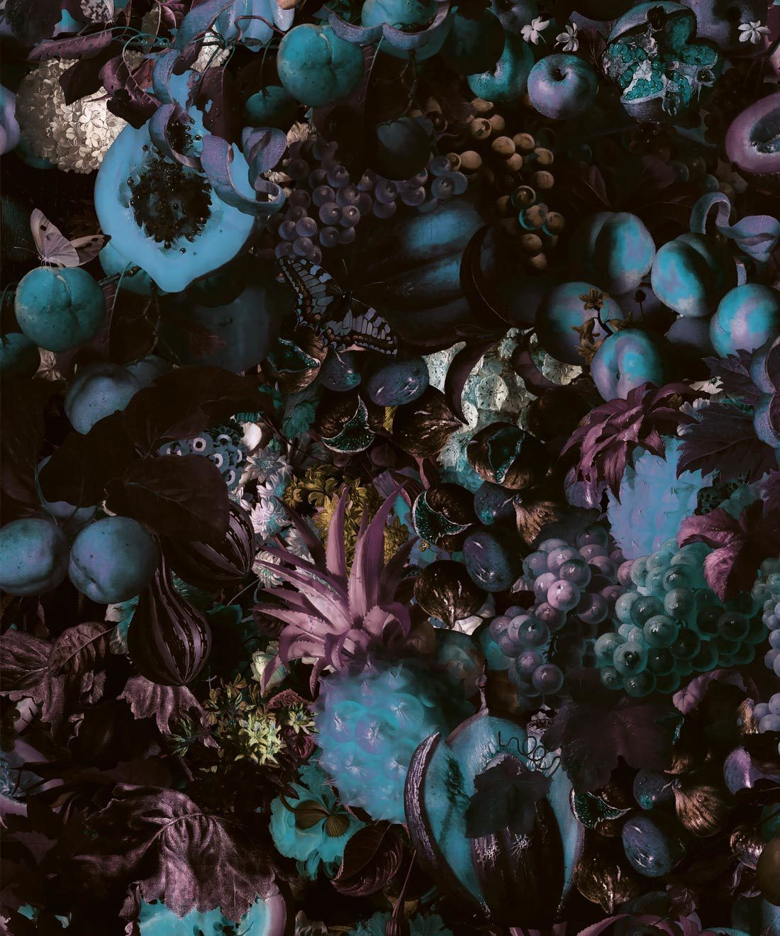 Fruitta Frost Wallpaper • Kitchen Wallpaper • Floral Wallpaper • Milton & King