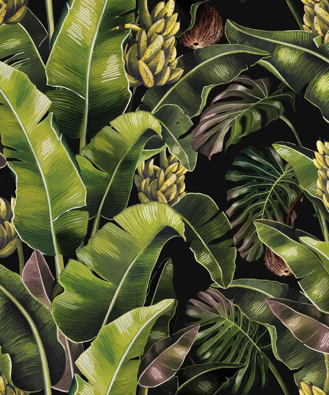 Kingdom Palm Night • Tropical Leaf Wallpaper • Milton & King