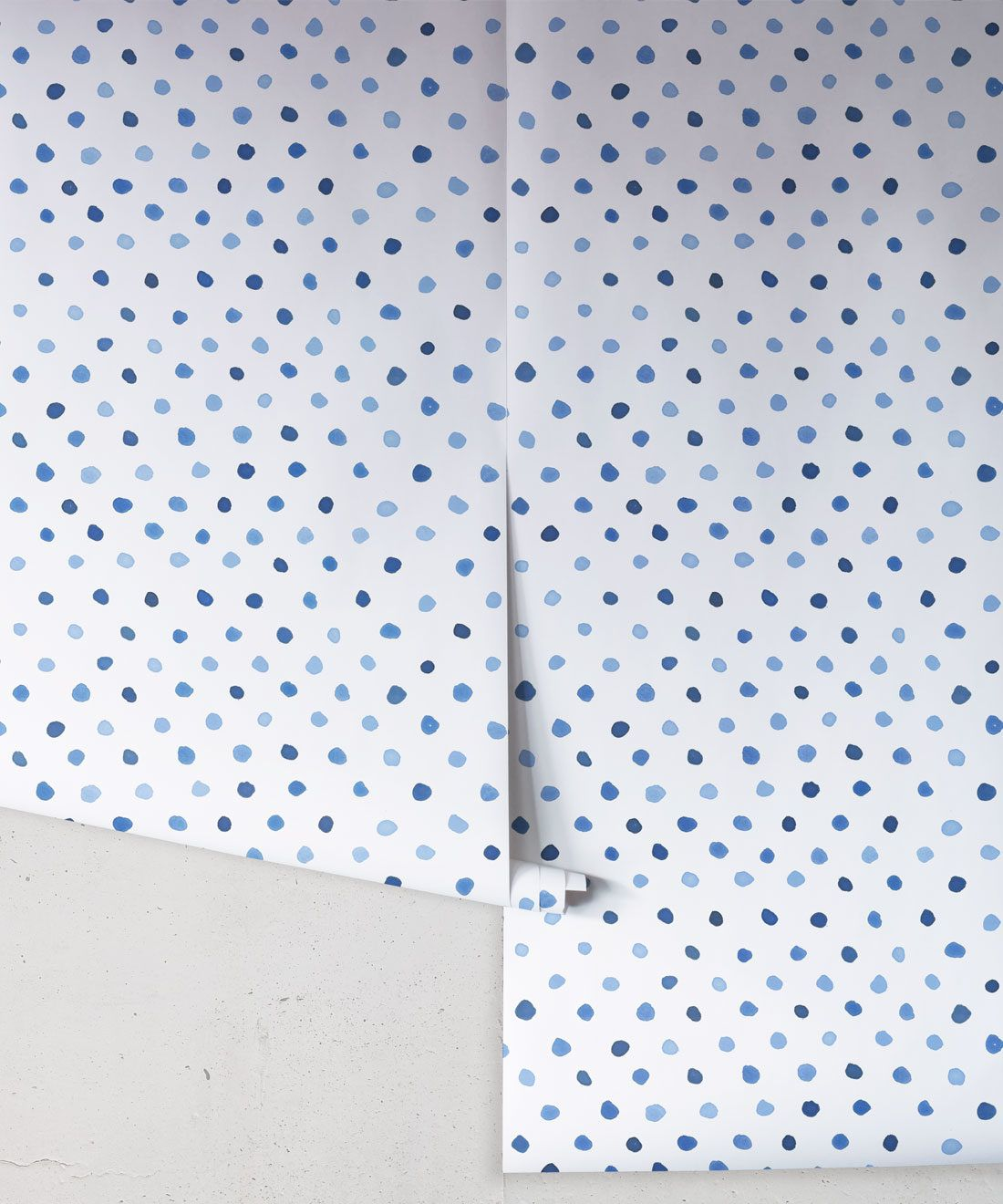 Dibba Dots • Georgia MacMillan • Blue Spotty Wallpaper • Milton & King Europe