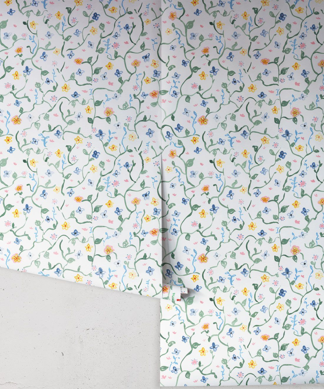 Wild Garden • Dainty Floral Wallpaper • Milton & King Europe •Georgia MacMillan • Childrens Wallpaper • Nursery Wallpaper