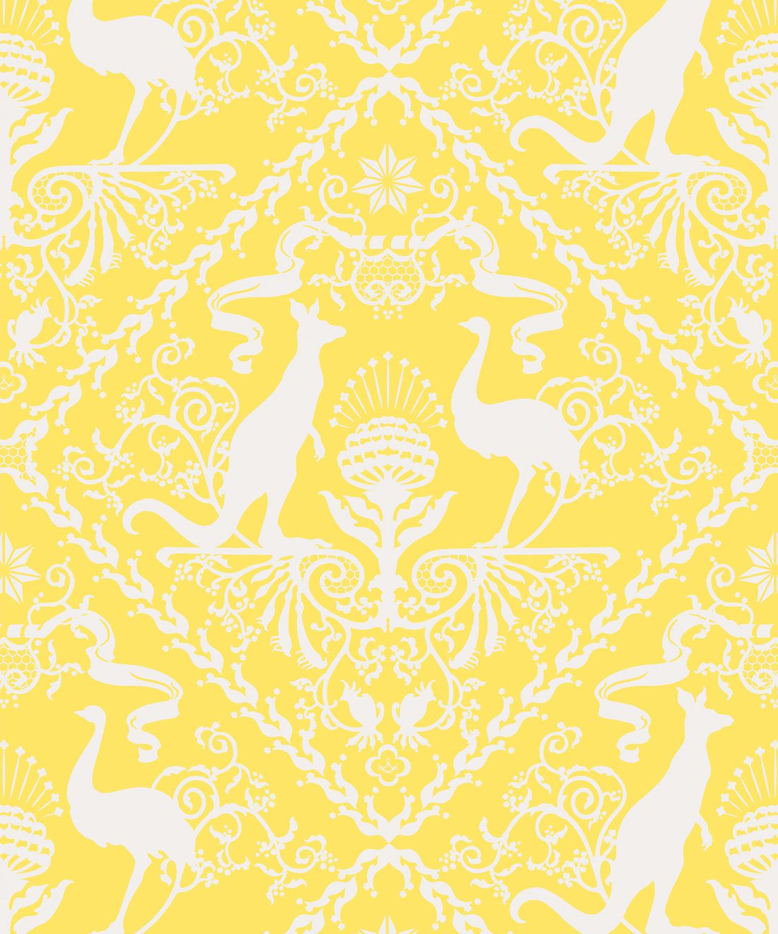 In Australia We Trust Sunshine • Australian Wallpaper • Australian Coat of Arms • Milton & King Europe • Yellow Wallpaper