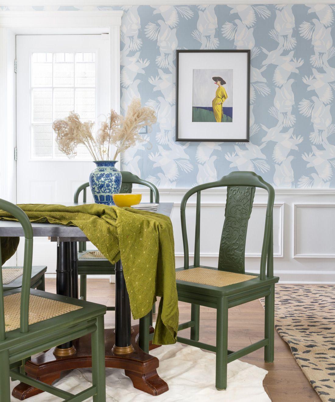 Magpie Wallpaper • Australia Collection by Kingdom Home • Blue Wallpaper • Bird Wallpaper • Photo by Jewel Marlowe • Milton & King EU