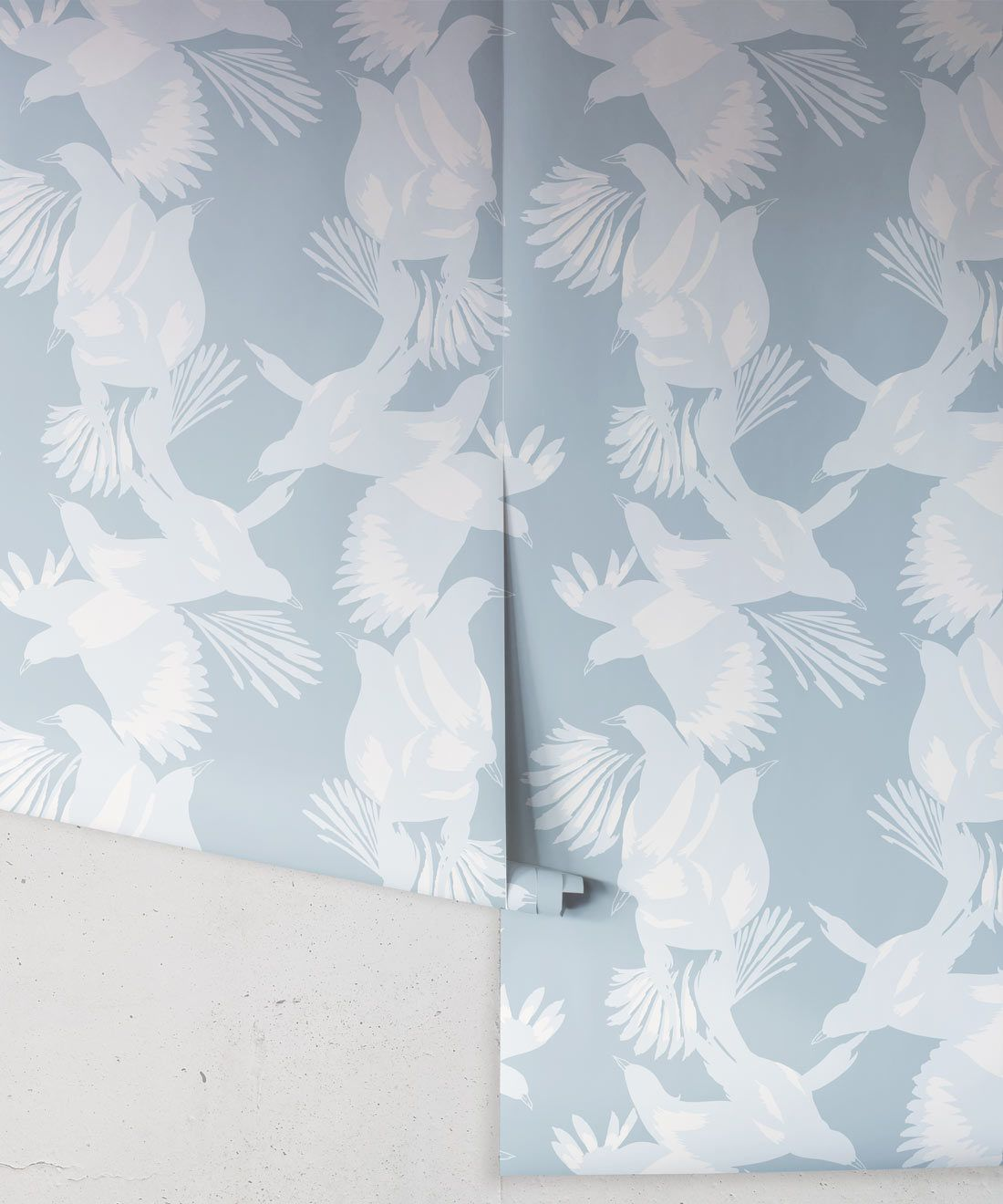 Magpie Wallpaper • Milton & King • Kingdom Home • Bird Wallpaper • Blue Bell Roll