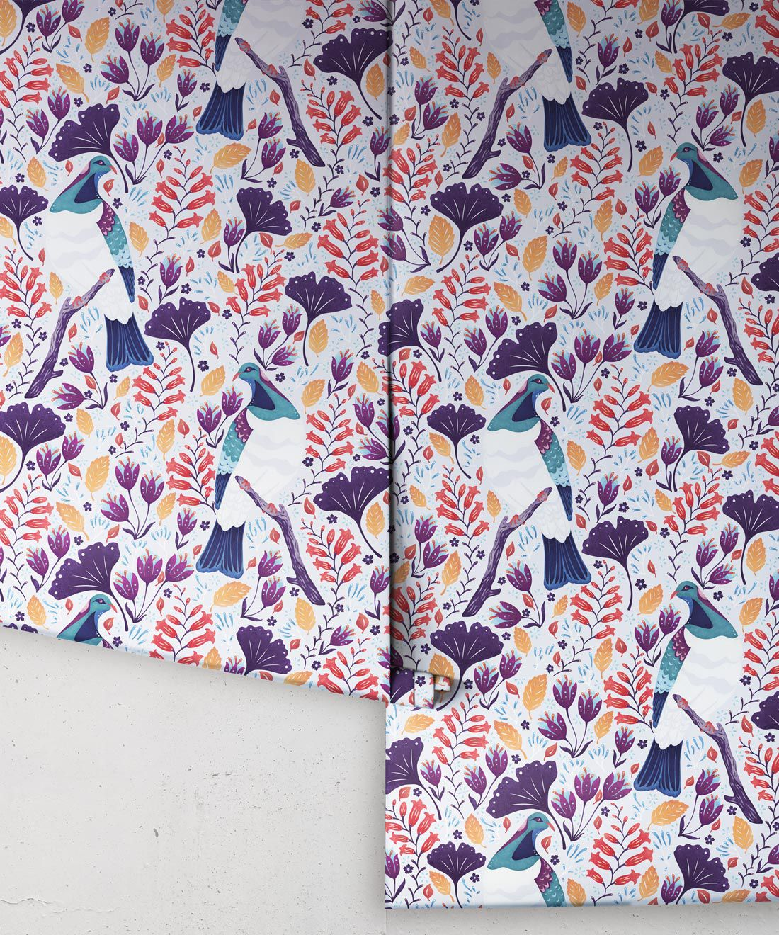 Kereru Wallpaper • Wood Pigeon• Bird Wallpaper •Assorted Color Wallpaper Rolls