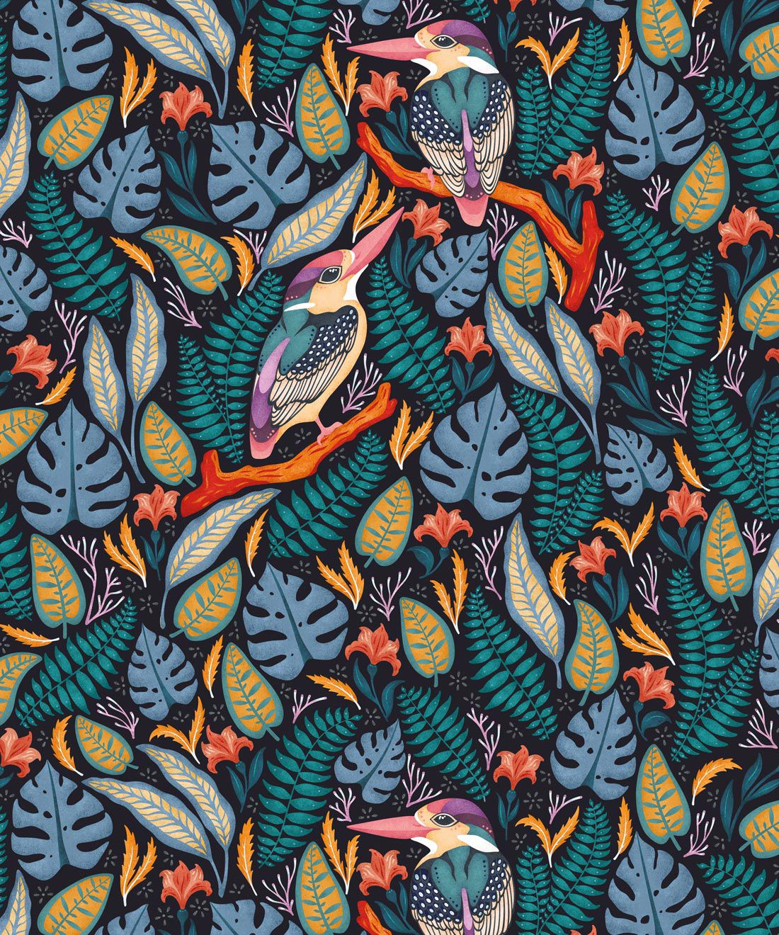 Kingfisher Wallpaper • Bird Wallpaper • Assorted Color