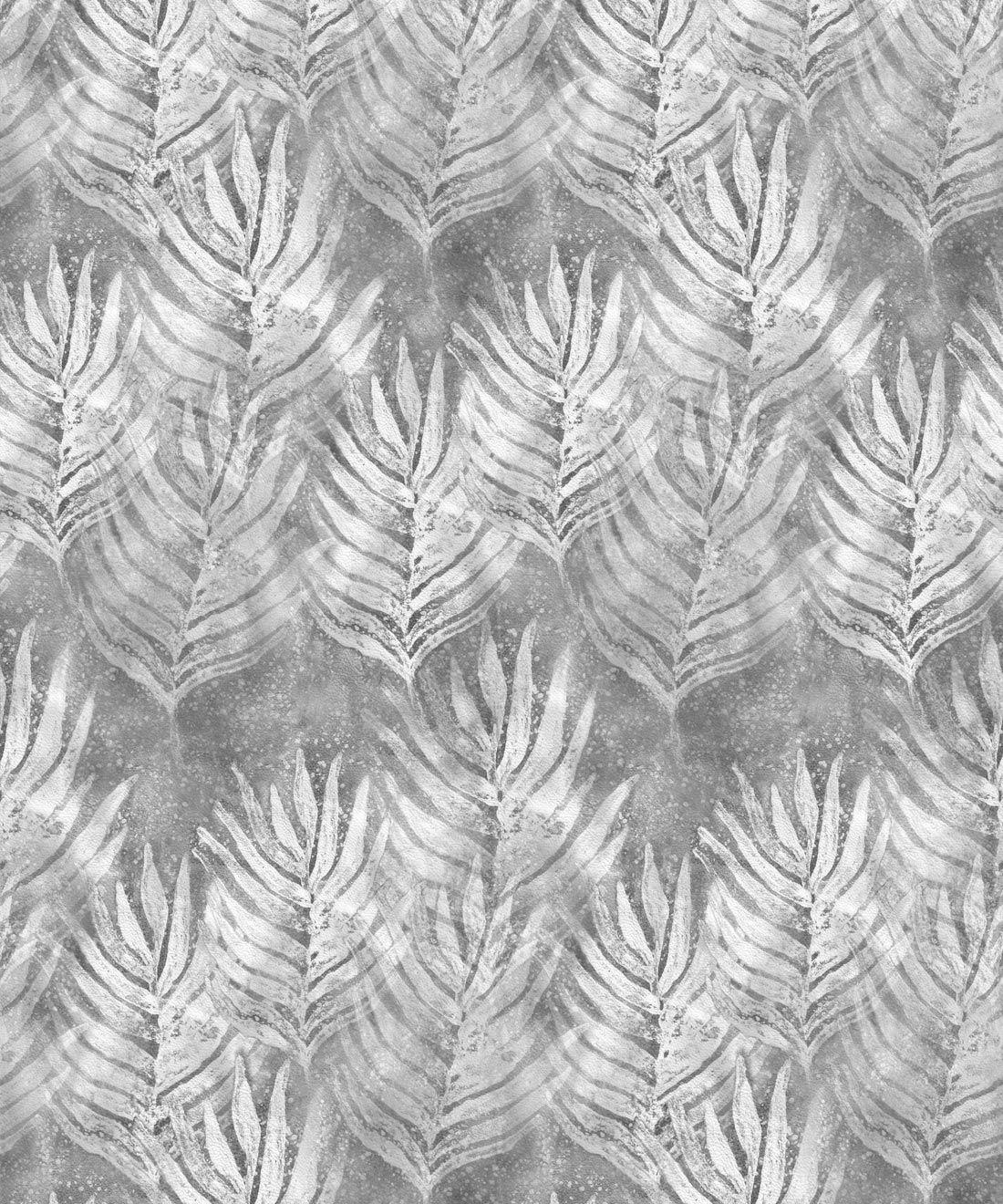 Silver Grey Shibori Leaf Wallpaper
