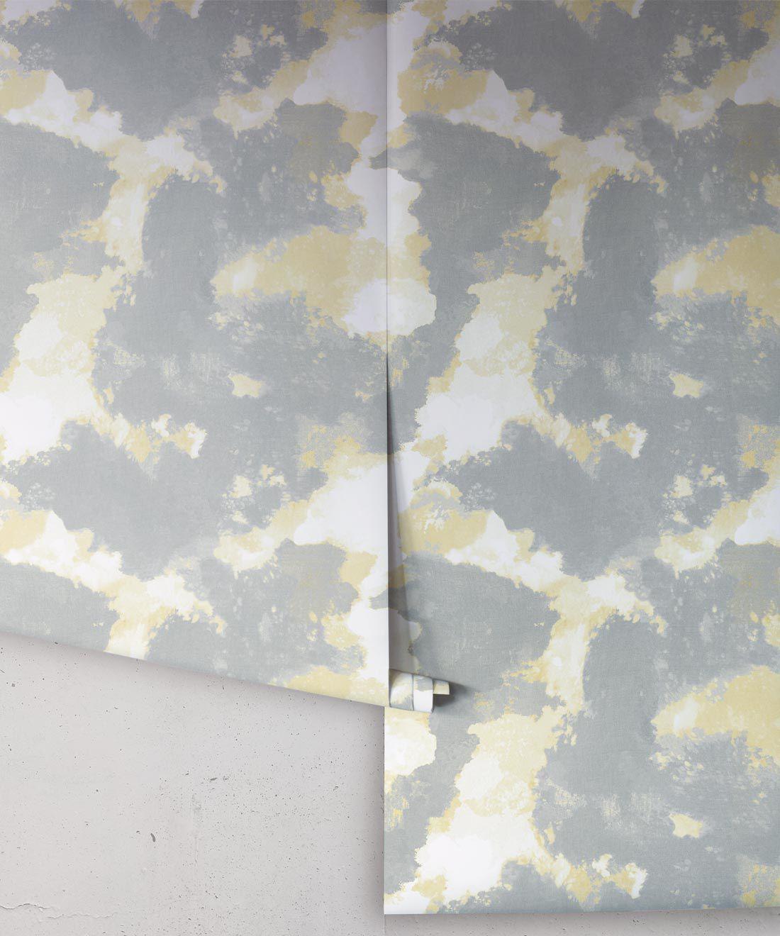 Autumn Path Wallpaper Bronze • Shibori Abstract Wallpaper Rolls