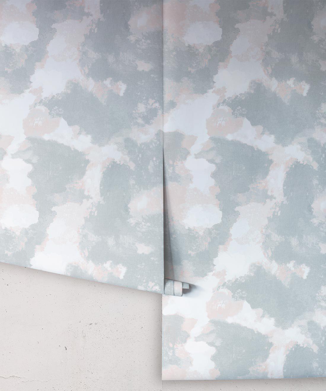 Autumn Path Wallpaper Sage • Shibori Abstract • Rolls