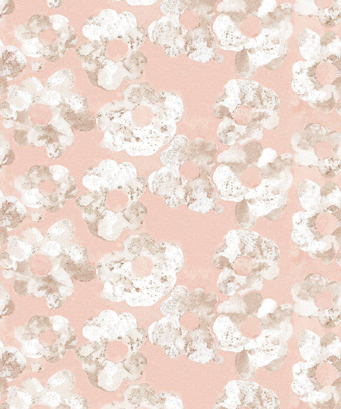 Cherry Blossom Wallpaper Blush • Shibori Floral • Swatch