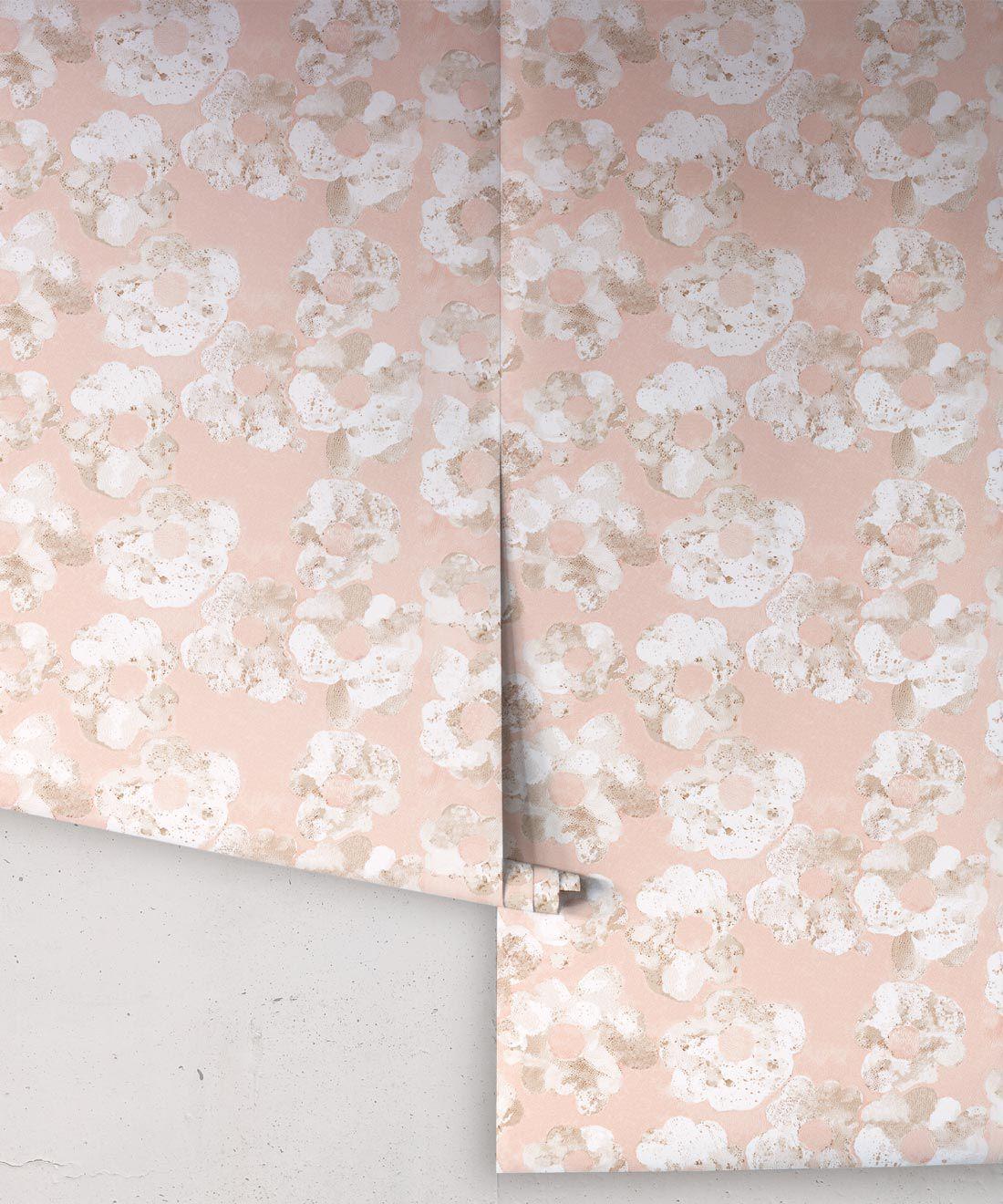 Cherry Blossom Wallpaper Blush • Shibori Floral • Rolls