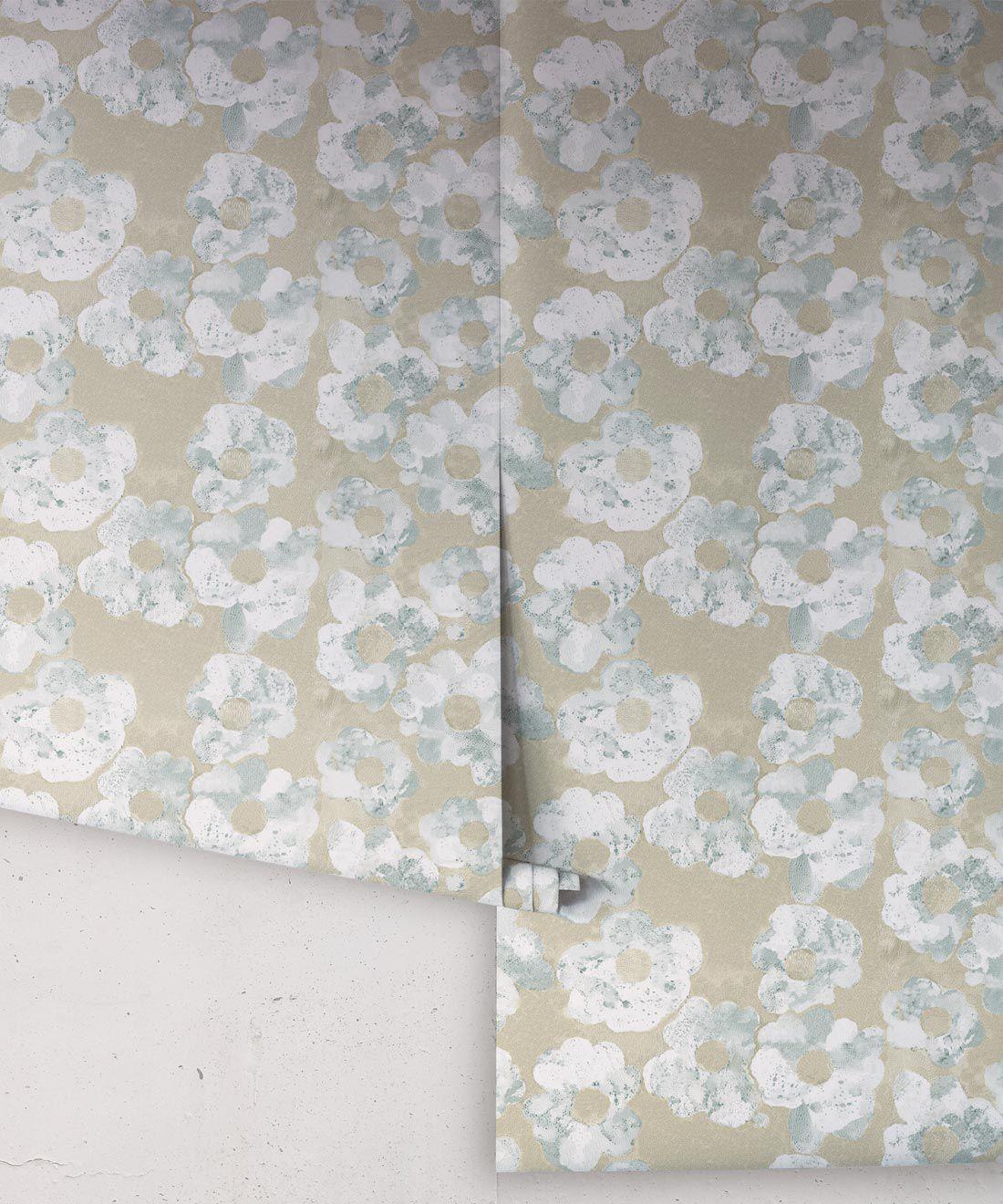 Cherry Blossom Wallpaper Bronze • Shibori Floral • Rolls