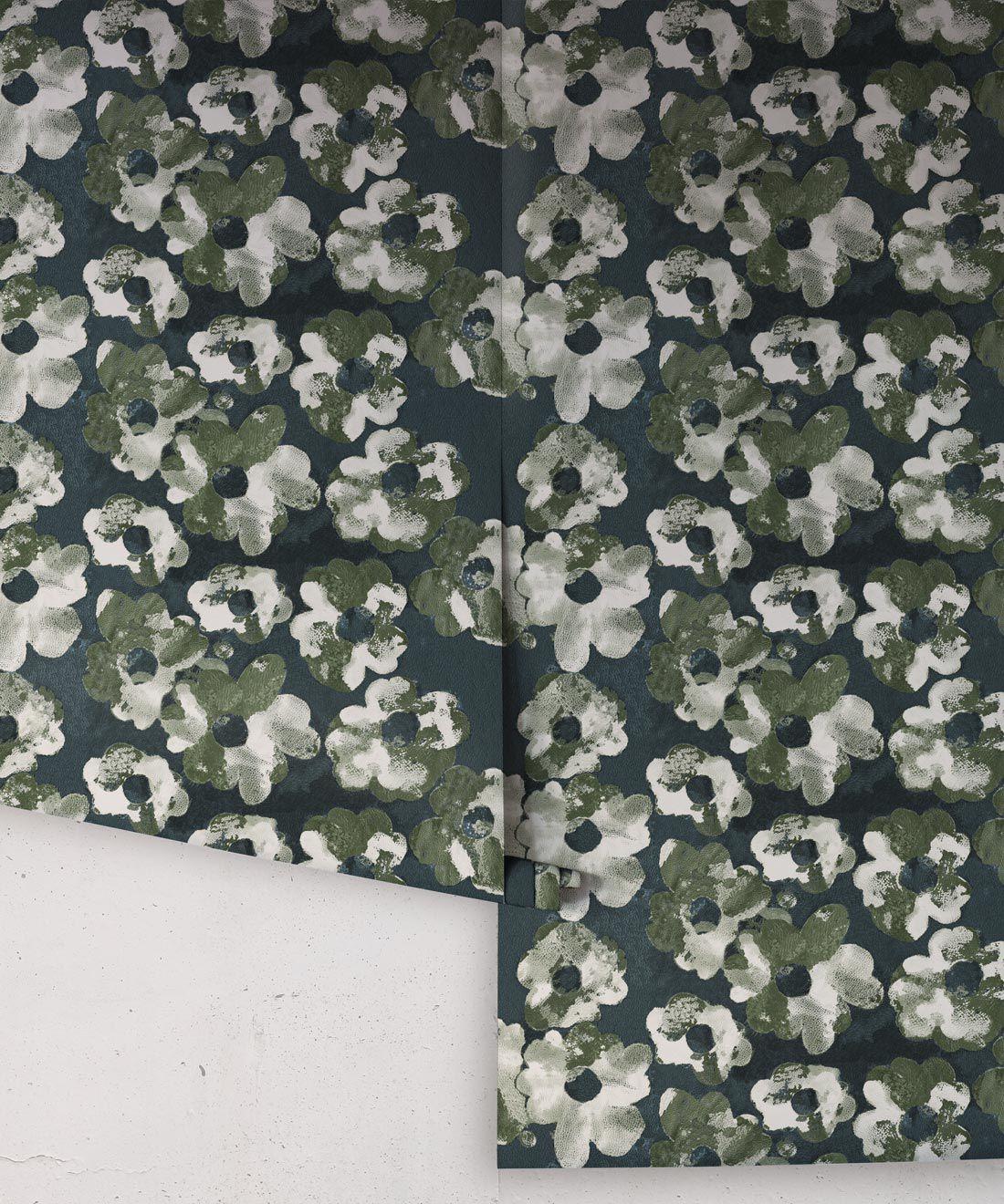 Cherry Blossom Wallpaper Night • Shibori Floral • NightRolls