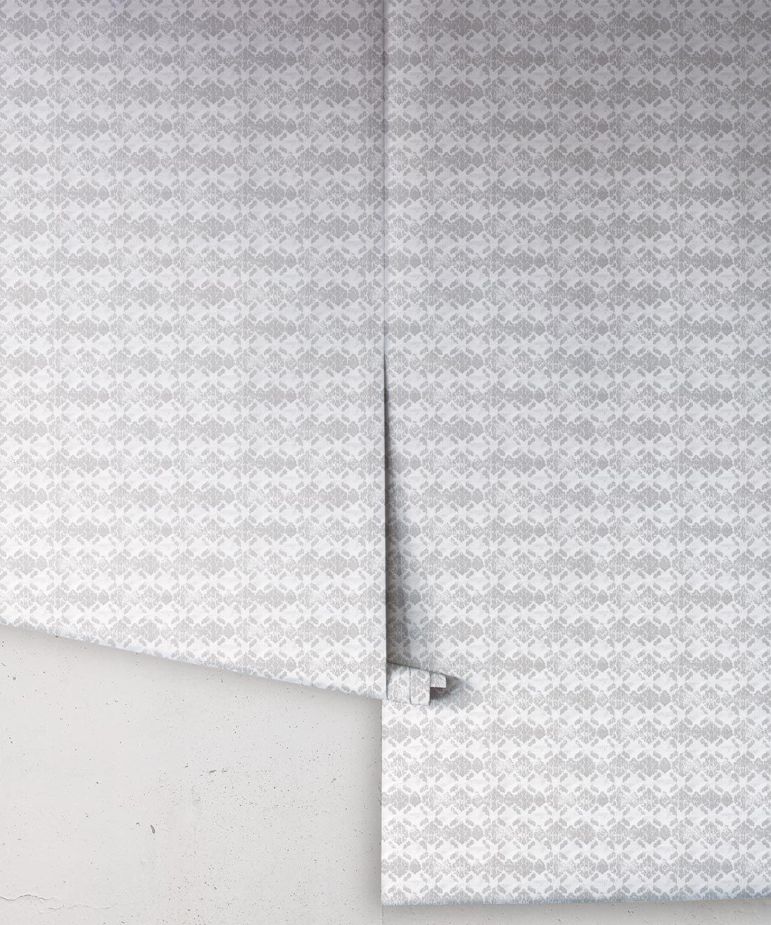 Silver Ikat Wallpaper • Shibori
