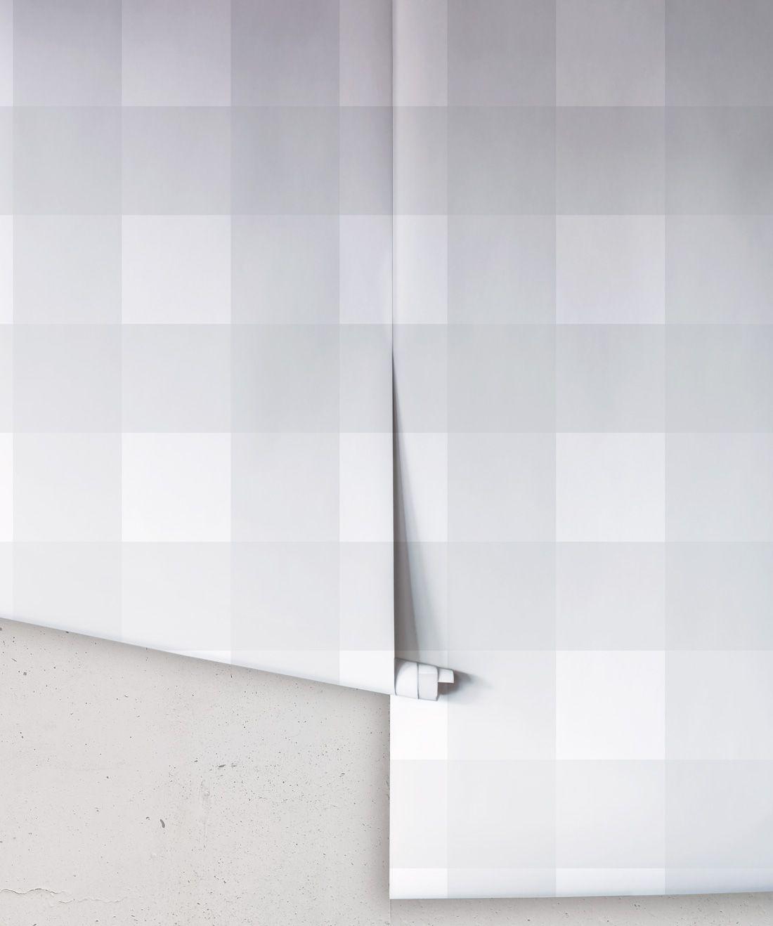 Mel's Buffalo Check Wallpaper • Gray Plaid Wallpaper Rolls