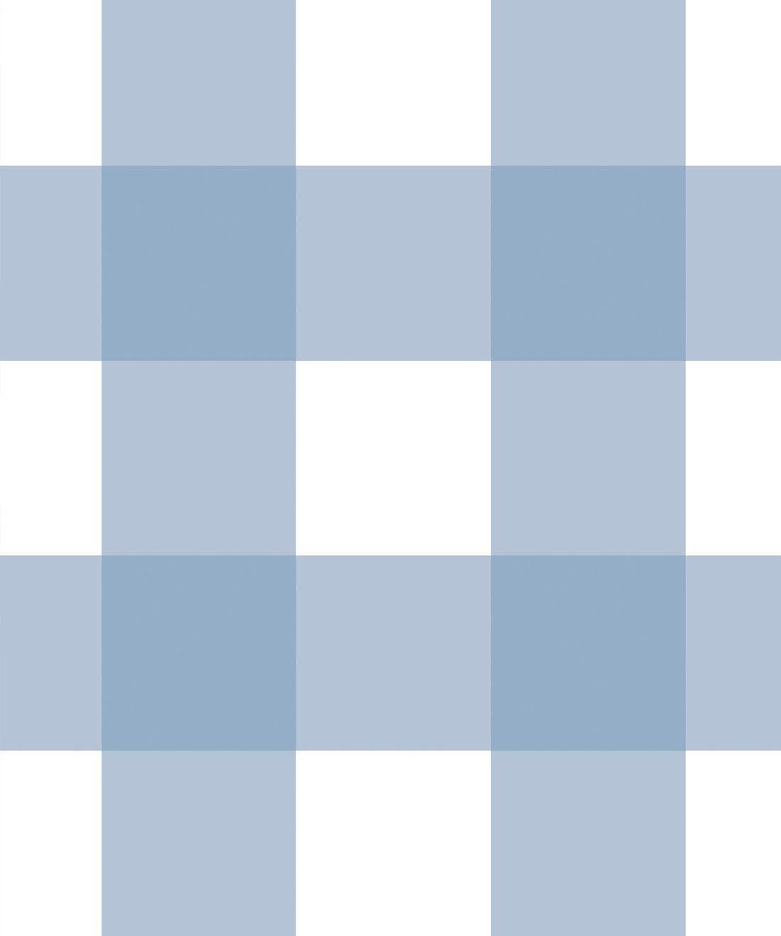 Mel's Buffalo Check Wallpaper • Pale Blue Plaid Wallpaper Swatch