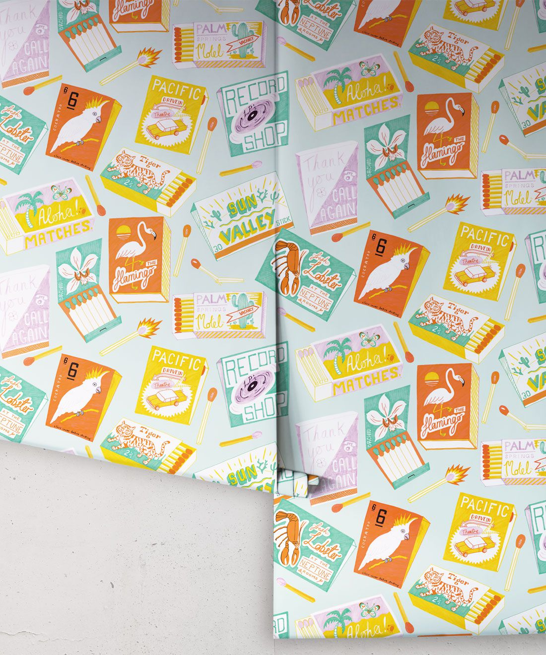 Match Books Wallpaper • retro wallpaper • las vegas style • gaming wallpaper • smokers wallpaper • fire rolls