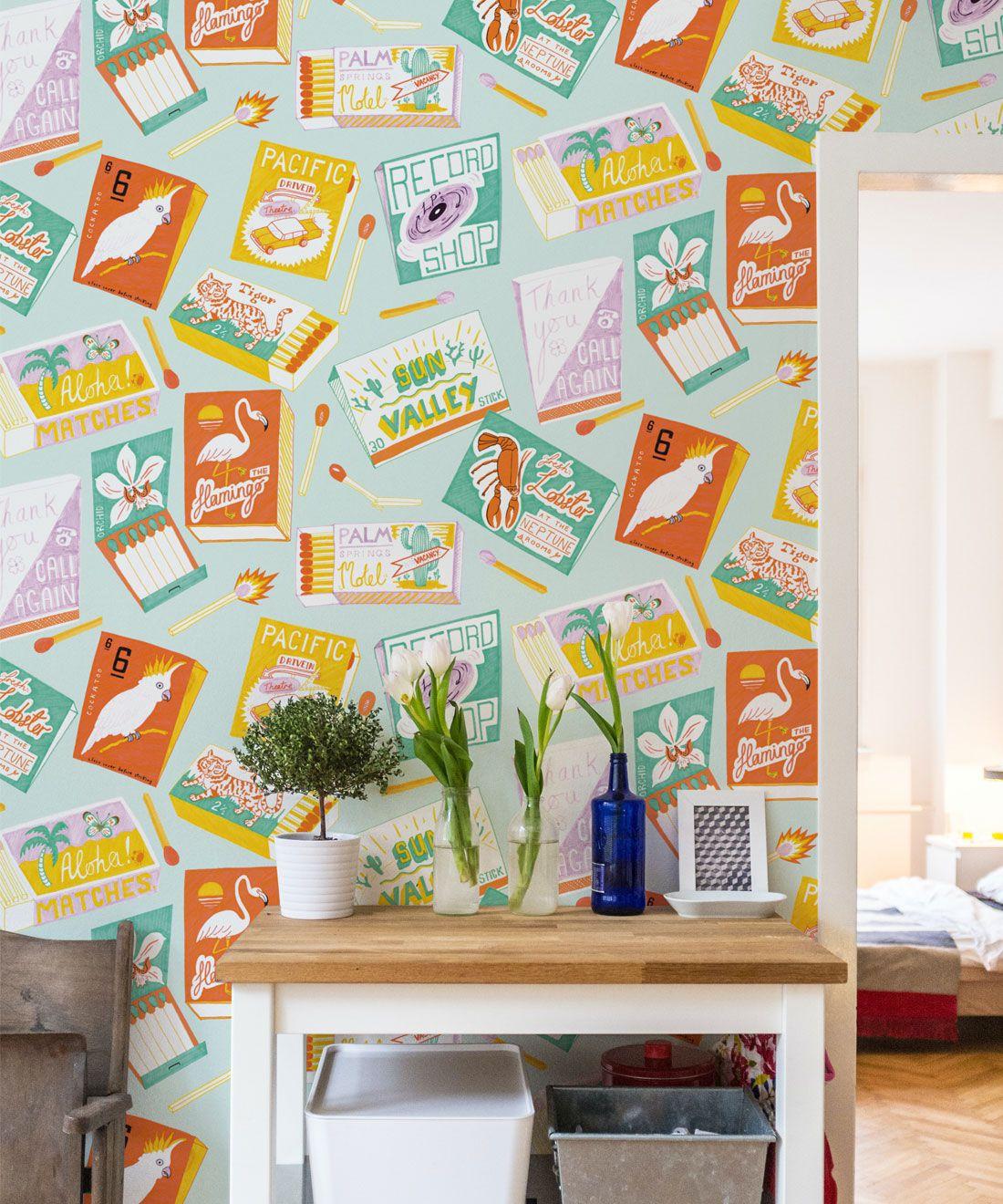 Match Books Wallpaper • retro wallpaper • las vegas style • gaming wallpaper • smokers wallpaper • fire insitu